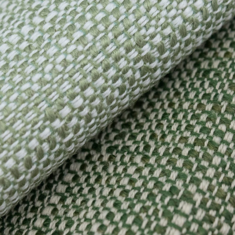 Friendly Indoor Outdoor Performance Textile | Green Tweed Inside Out Performance Fabric Bleach Cleanable