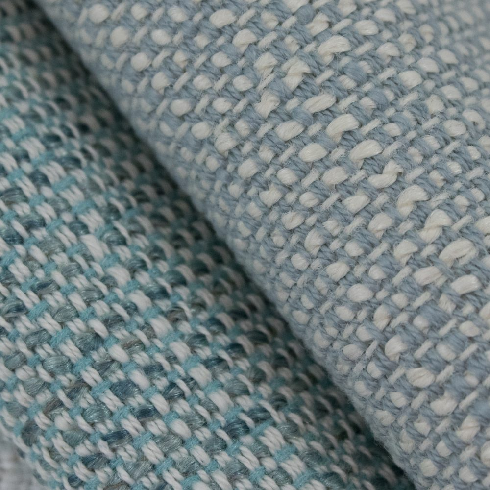 Friendly Indoor Outdoor Performance Textile | Blue Tweed Inside Out Performance Fabric Bleach Cleanable