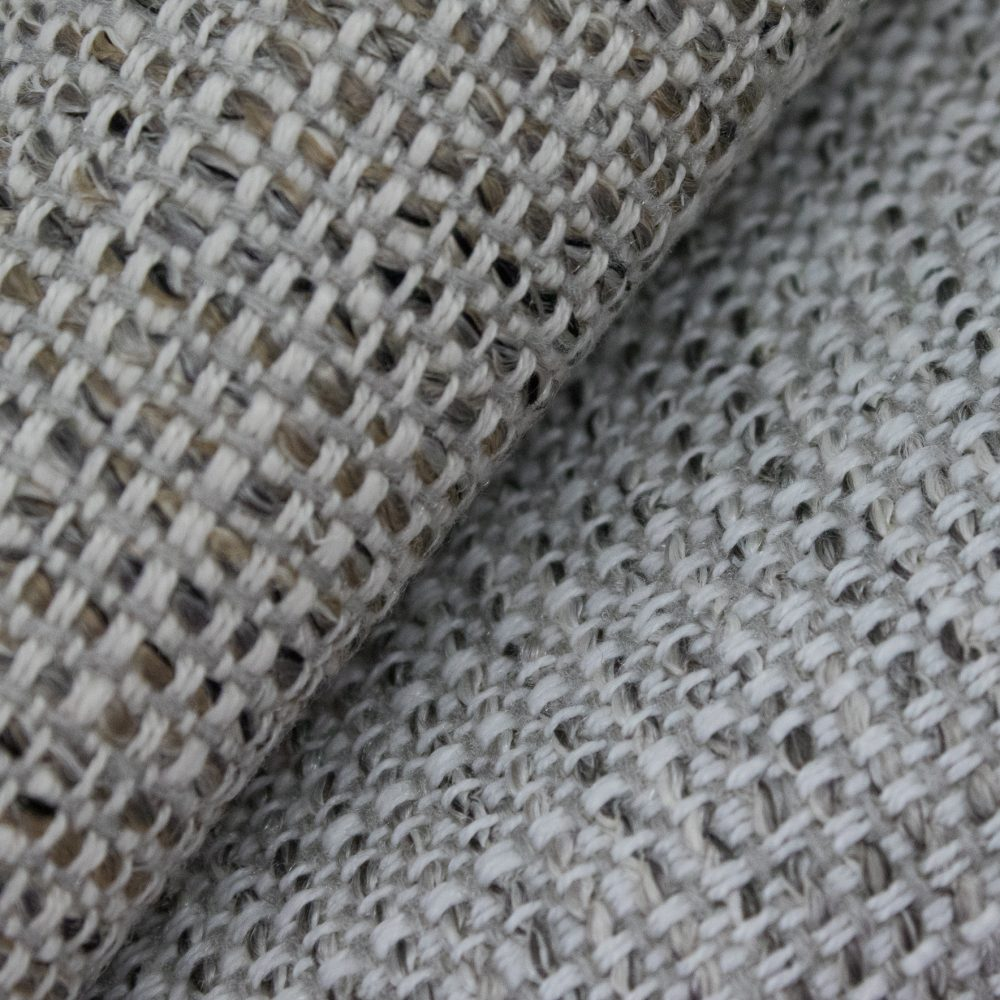 Friendly Indoor Outdoor Performance Textile | Grey Tweed Inside Out Performance Fabric Bleach Cleanable