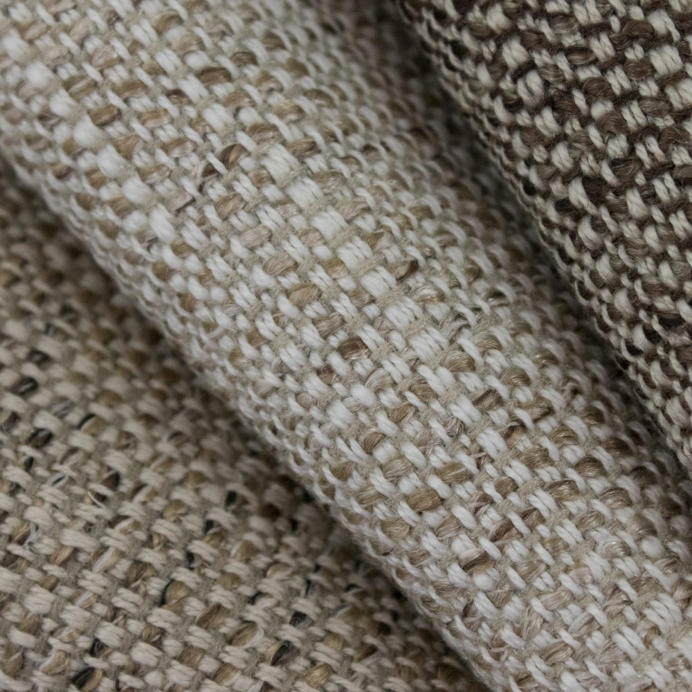 Friendly Indoor Outdoor Performance Textile | Natural colour Tweed Inside Out Performance Fabric Bleach Cleanable