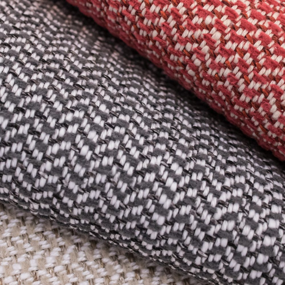 Garwood Indoor Outdoor Performance Textile | Grey Herringbone Inside Out Performance Fabric Bleach Cleanable