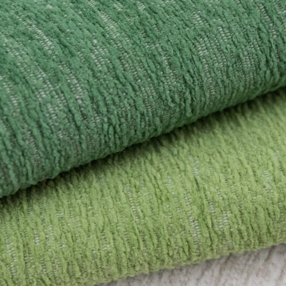 Gowan Indoor Outdoor Performance Textile | Green Plush Inside Out Performance Fabric Bleach Cleanable