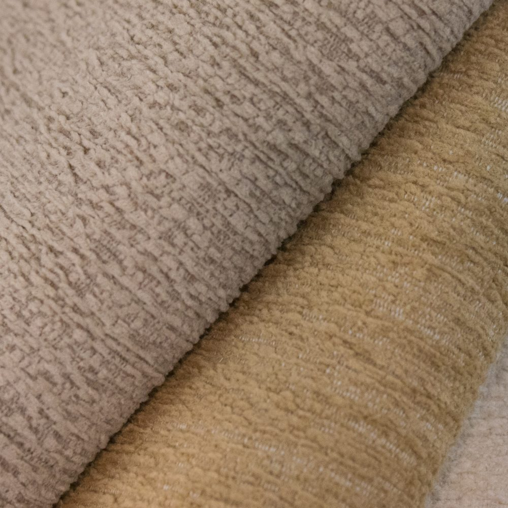 Gowan Indoor Outdoor Performance Textile | Beige Plush Inside Out Performance Fabric Bleach Cleanable