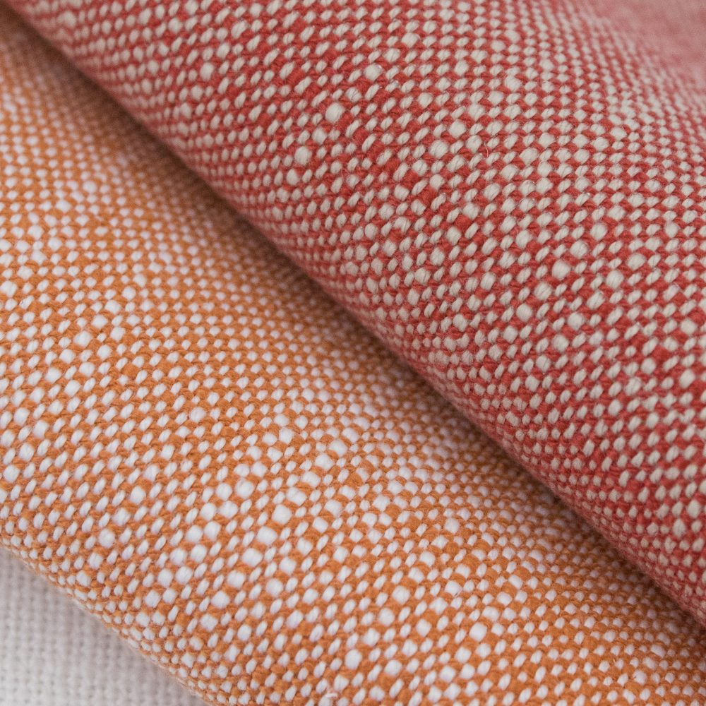 Rollo Indoor Outdoor Performance Textile | Red Texture Inside Out Performance Fabric Bleach Cleanable