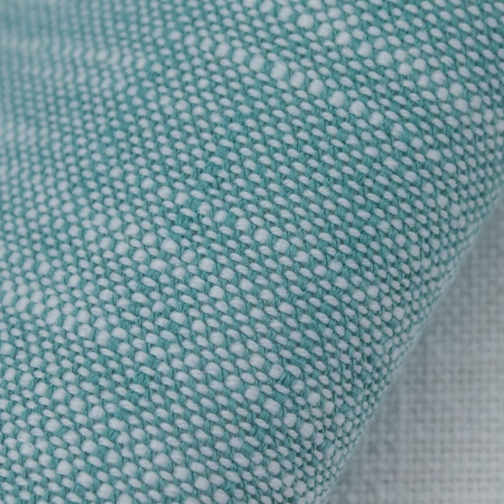 Rollo Indoor Outdoor Performance Textile | Turquoise Texture Inside Out Performance Fabric Bleach Cleanable