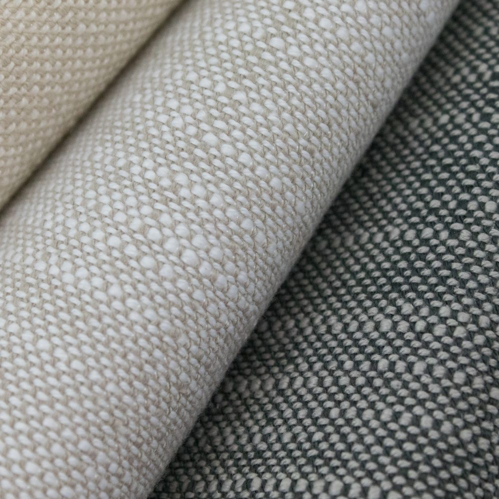 Rollo Indoor Outdoor Performance Textile | Grey Texture Inside Out Performance Fabric Bleach Cleanable