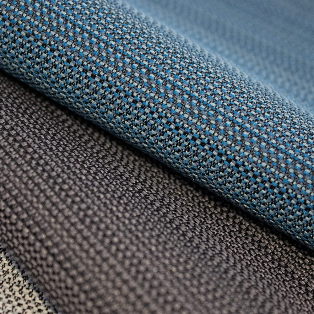 Beam Collection Performance Textile | Blue Texture Made in Canada Bleach Cleanable Recycled Polyester