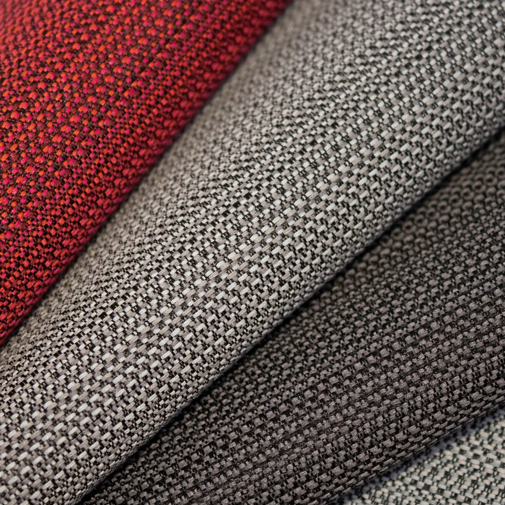 Beam Collection Performance Textile | Grey Texture Made in Canada Bleach Cleanable Recycled Polyester