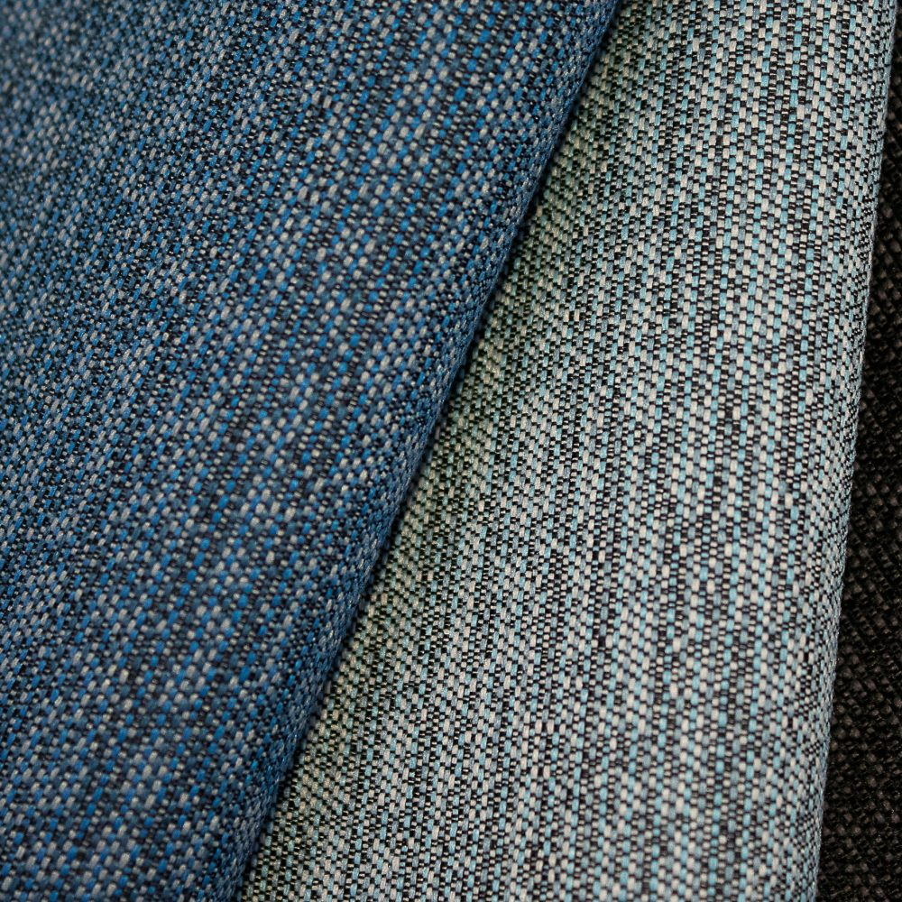 Pause Collection Performance Textile | Blue Textured Fabric Made in Canada Bleach Cleanable Recycled Polyester