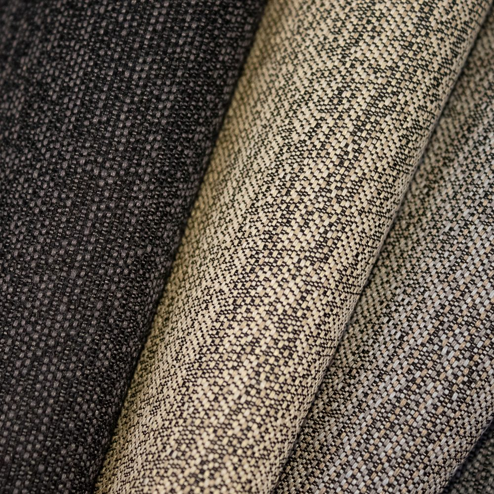 Pause Collection Performance Textile | Black Textured Fabric Made in Canada Bleach Cleanable Recycled Polyester