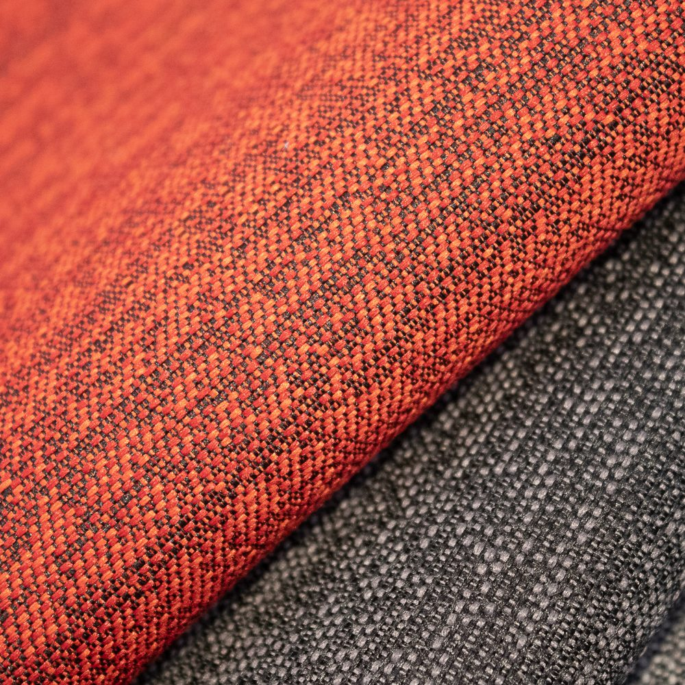 Pause Collection Performance Textile | Orange Textured Fabric Made in Canada Bleach Cleanable Recycled Polyester