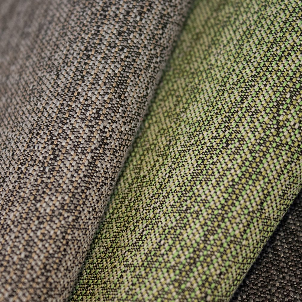 Pause Collection Performance Textile | Green Textured Fabric Made in Canada Bleach Cleanable Recycled Polyester