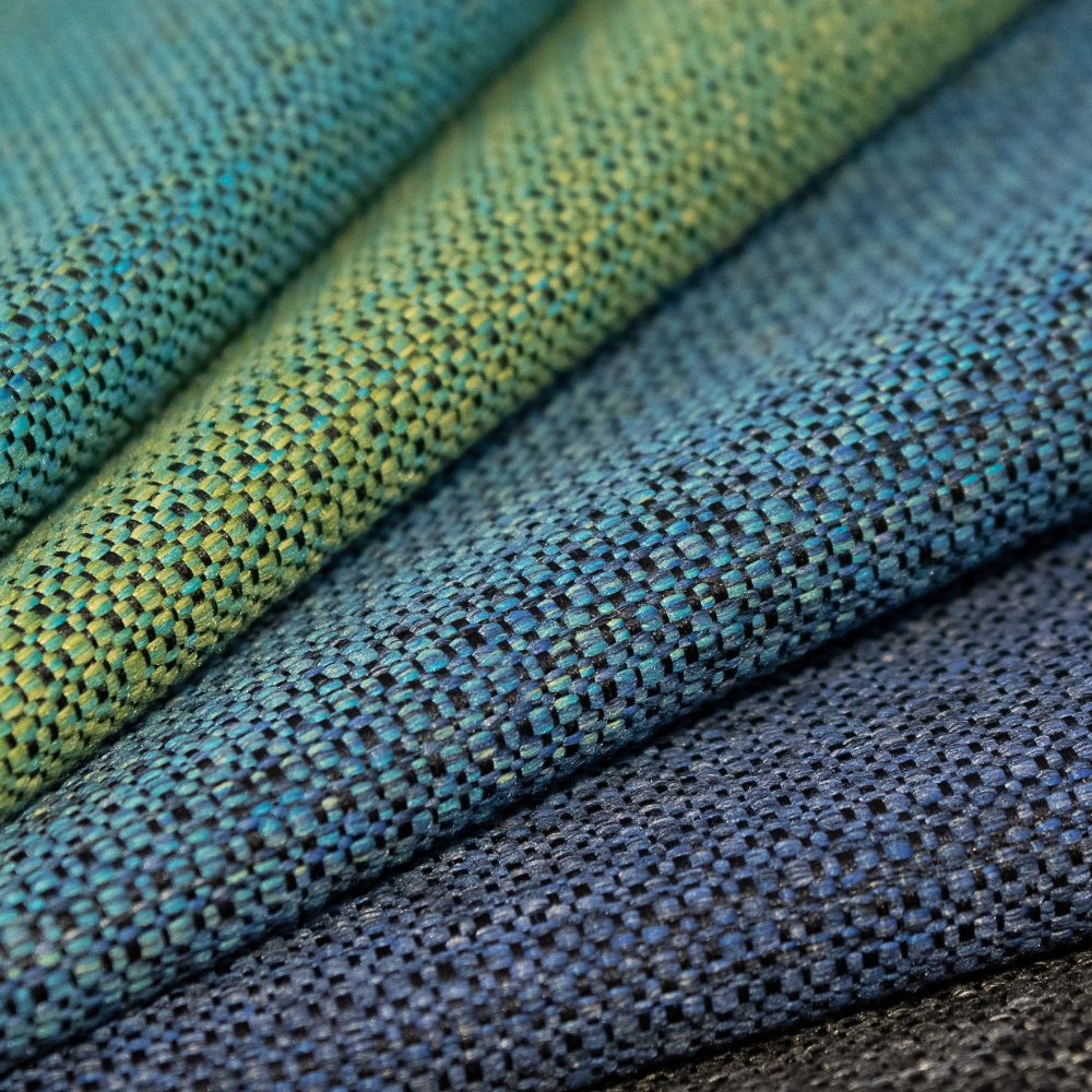 Prime Collection Performance Textile | Blue Textured Fabric Made in Canada Bleach Cleanable Recycled Polyester