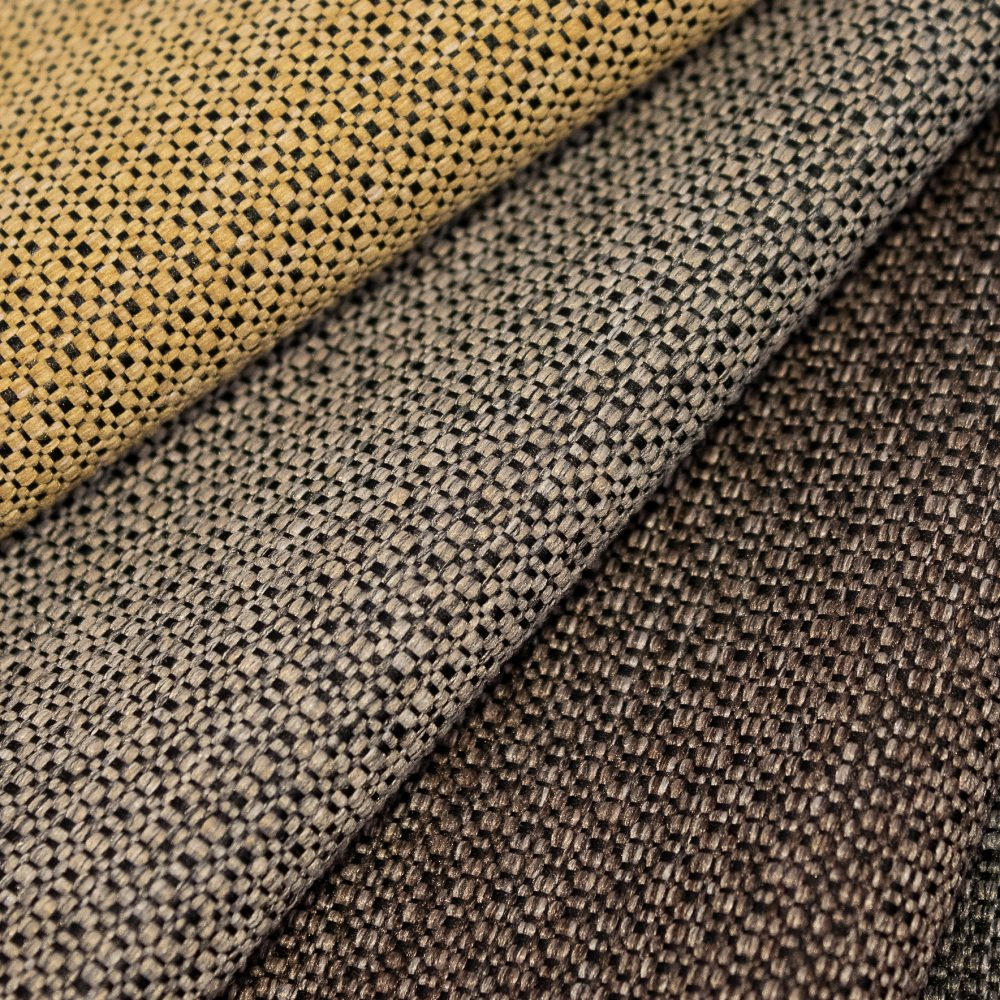 Prime Collection Performance Textile | Brown Textured Fabric Made in Canada Bleach Cleanable Recycled Polyester
