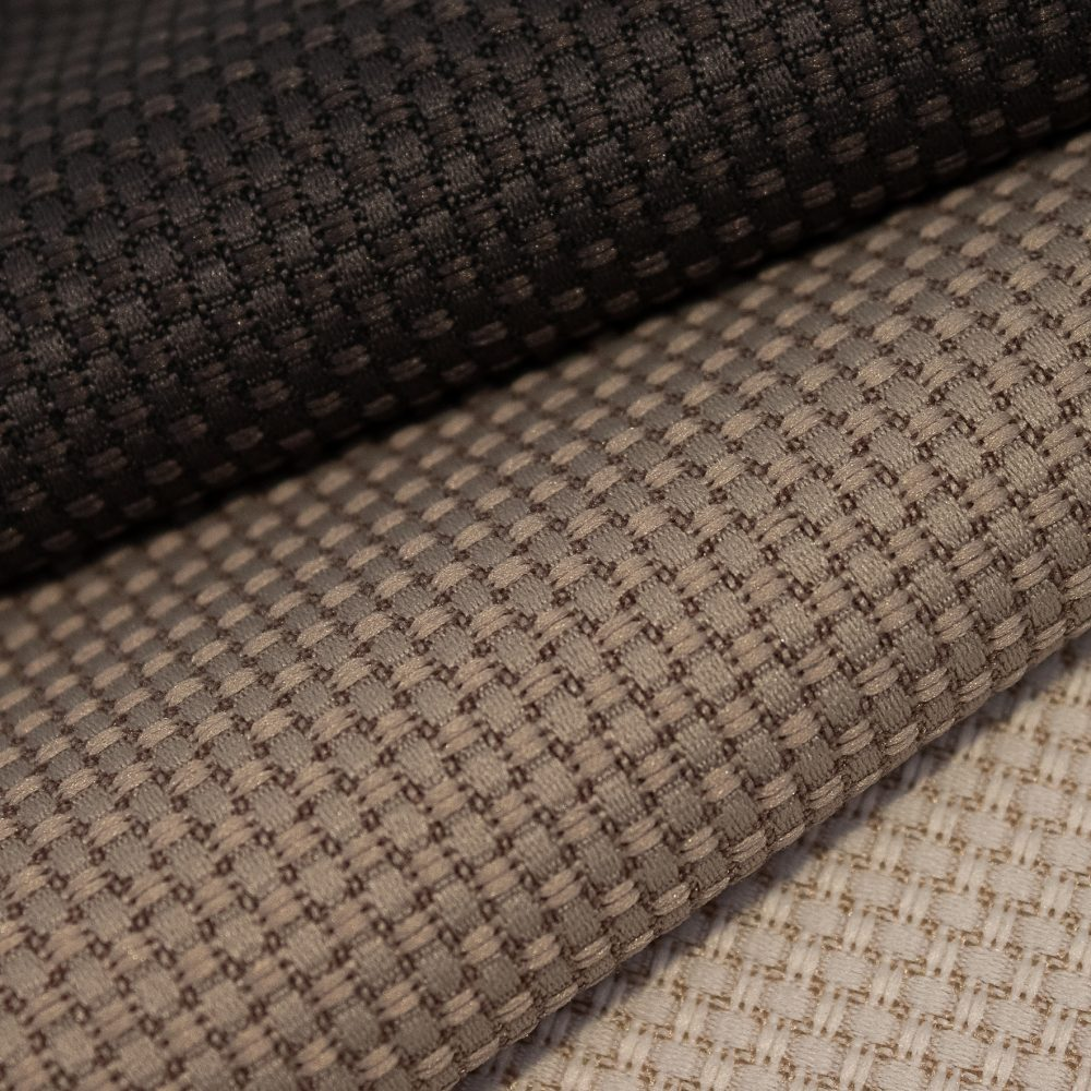 Tone Collection Performance Textile | Brown Textured Fabric Made in Canada Recycled Polyester