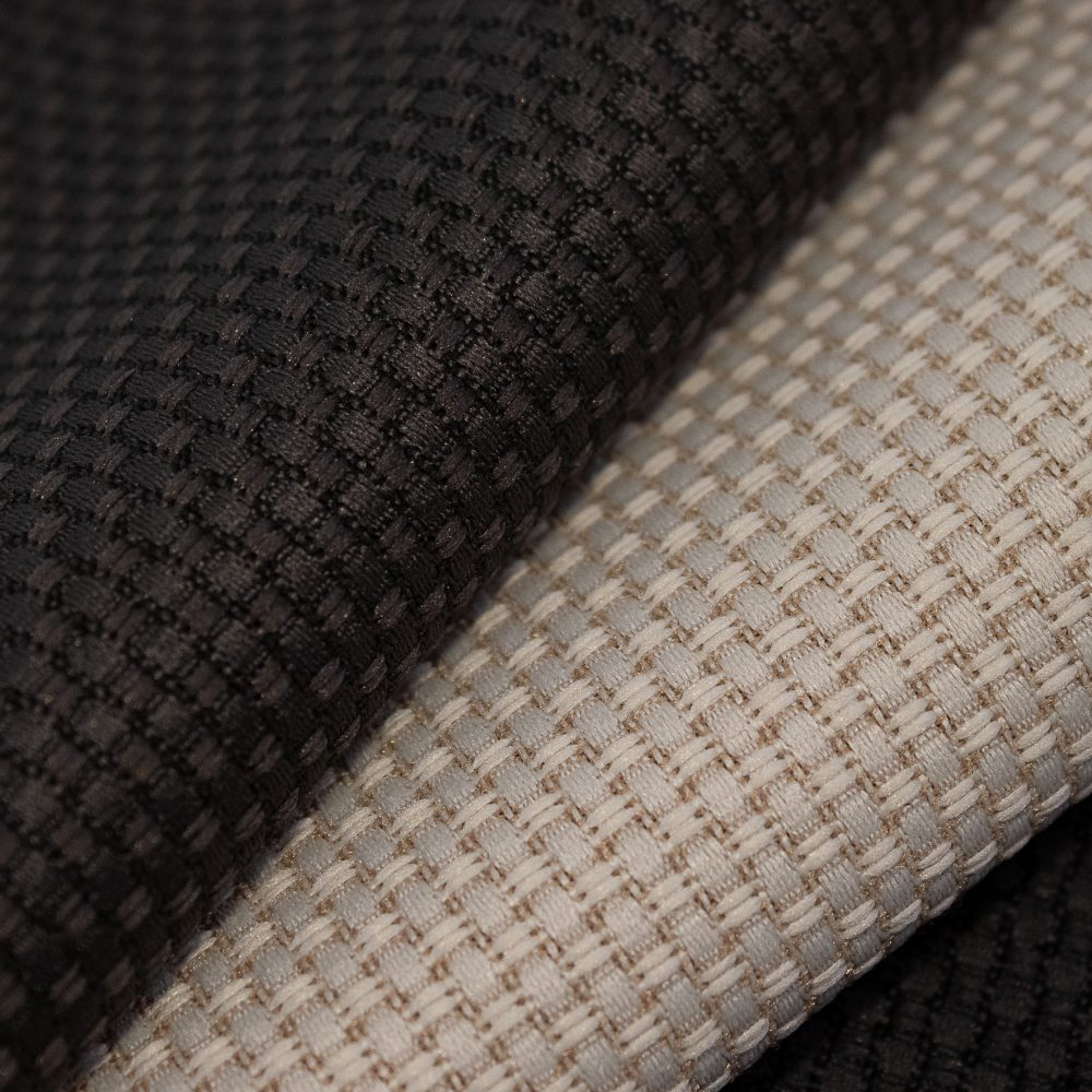 Tone Collection Performance Textile | Off White Grey Textured Fabric Made in Canada Recycled Polyester