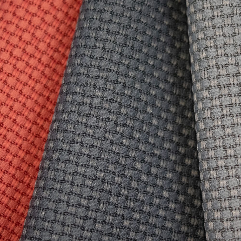 Tone Collection Performance Textile | Orange Textured Fabric Made in Canada Recycled Polyester