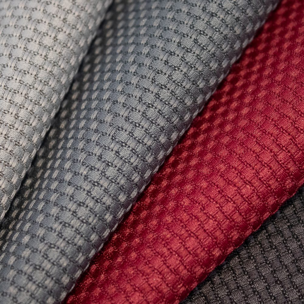 Tone Collection Performance Textile | Red Textured Fabric Made in Canada Recycled Polyester