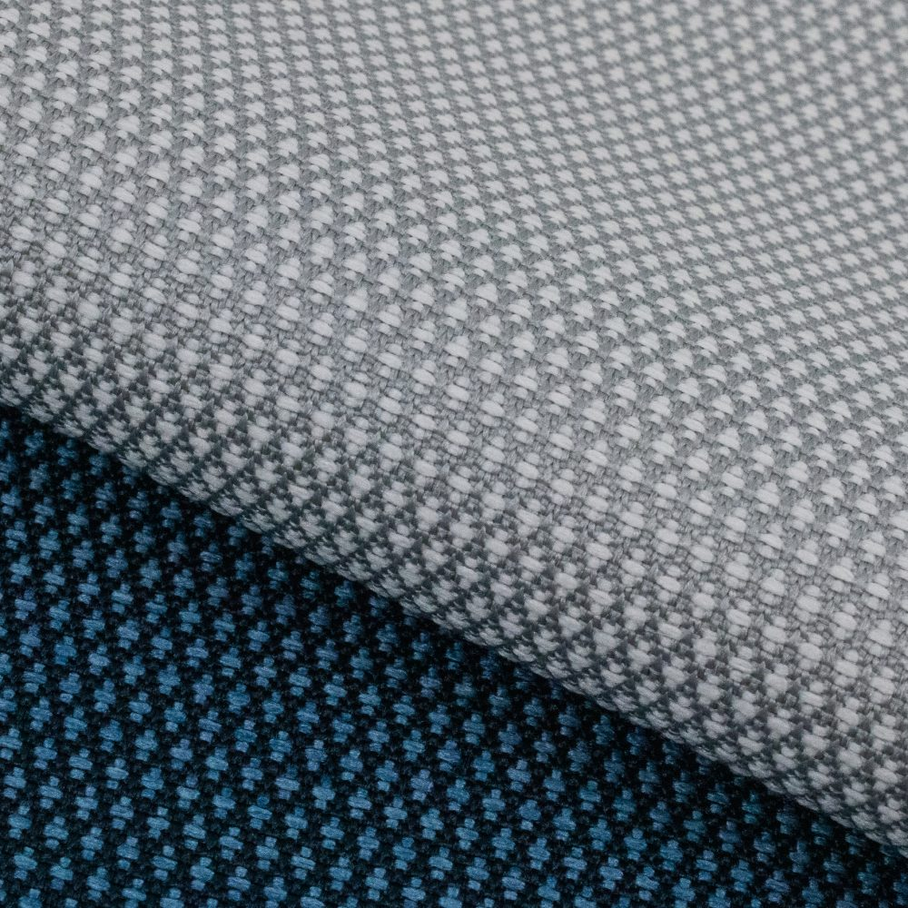 Carr Performance Textile | Grey Diamond Pattern Fabric Supreen Bleach Cleanable Liquid Barrier