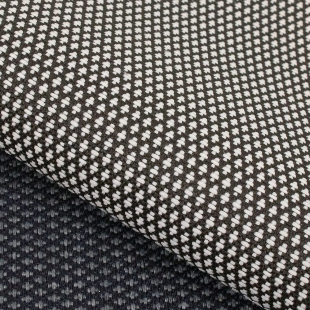 Carr Performance Textile | Black and White Diamond Pattern Fabric Supreen Bleach Cleanable Liquid Barrier