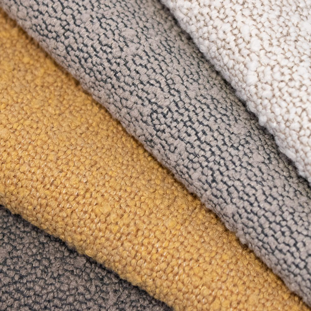 Cozy Collection Performance Textile | Grey Texture Bleach Cleanable Recycled Polyester Boucle