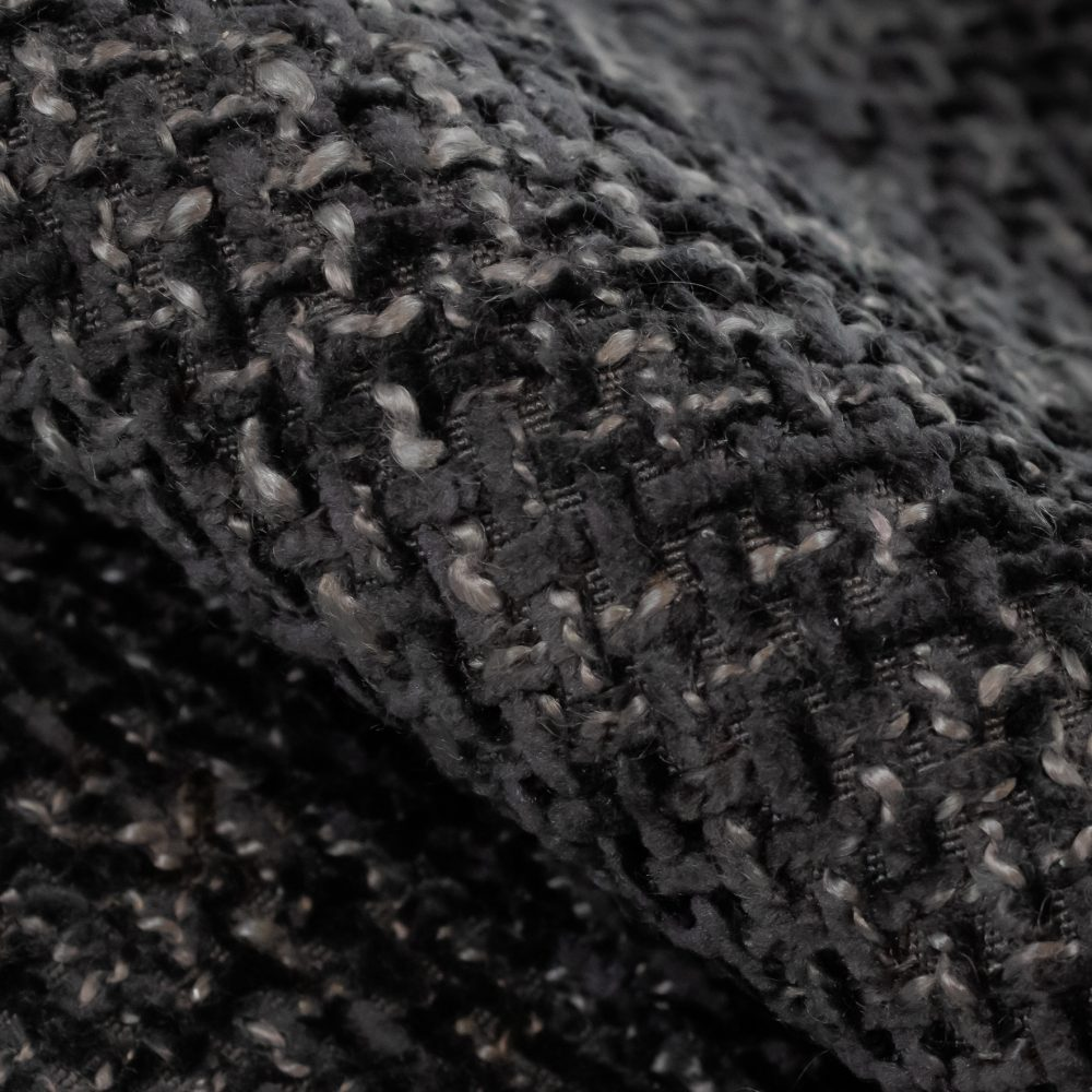 Allure Performance Textile   Black Chenille Fabric Crypton Home Performance