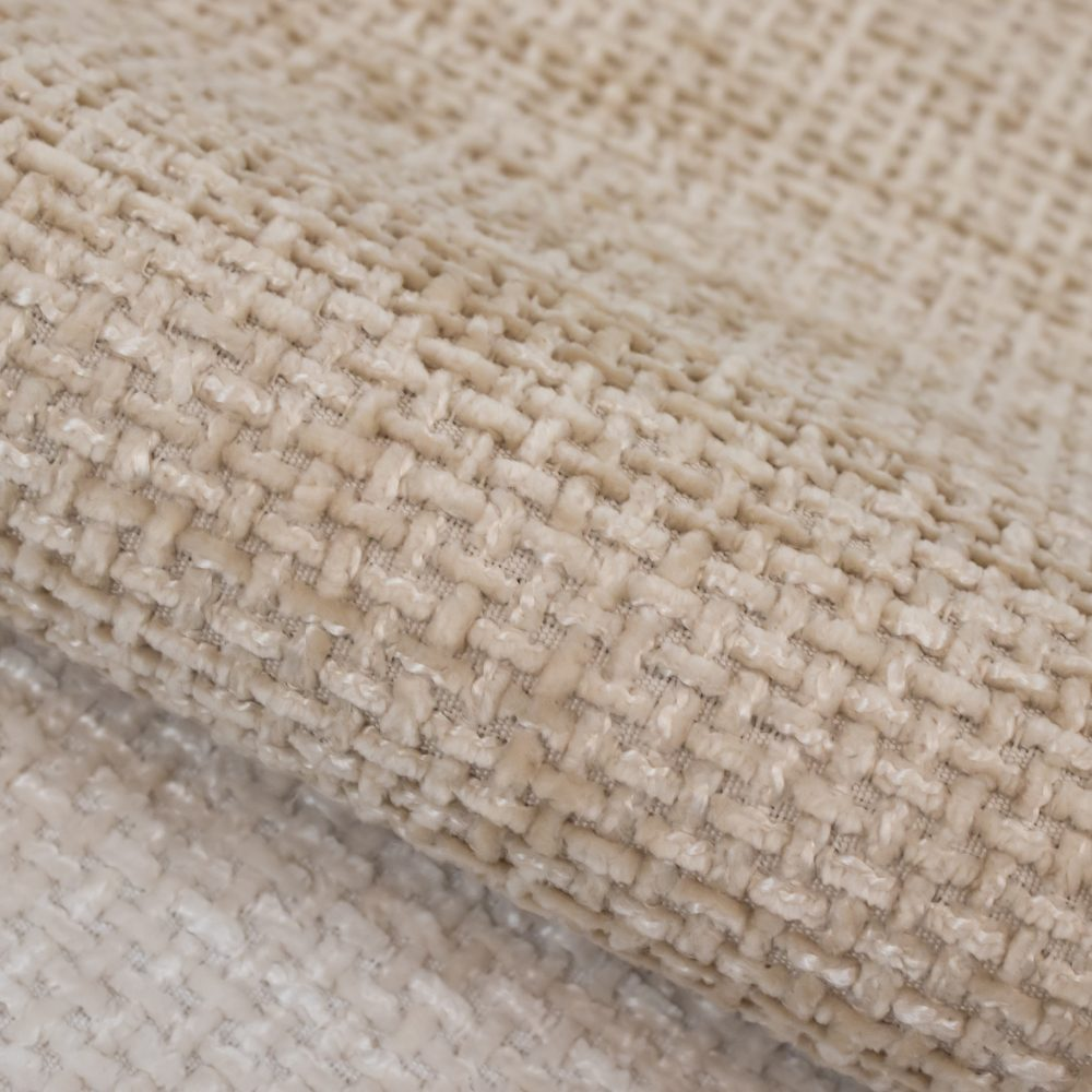 Allure Performance Textile   White Chenille Fabric Crypton Home Performance
