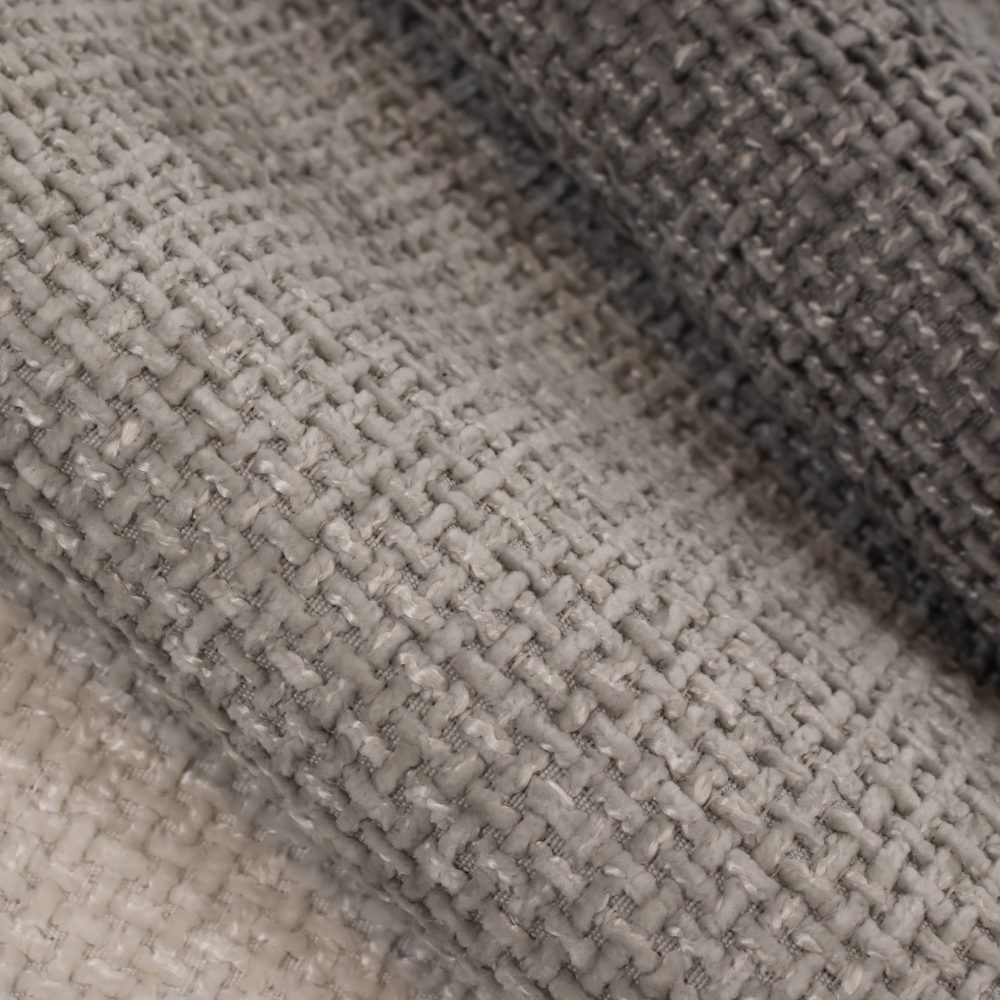 Allure Performance Textile   Grey Chenille Fabric Crypton Home Performance