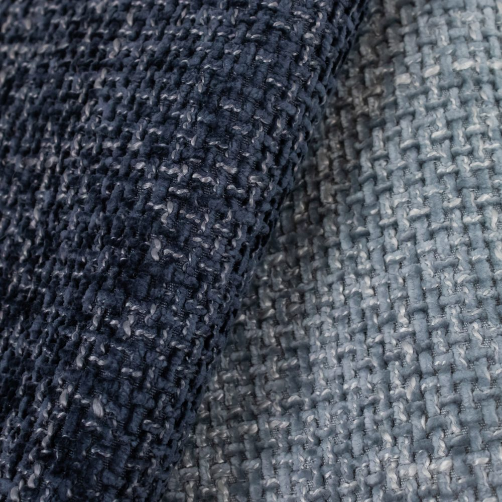 Allure Performance Textile   Blue Chenille Fabric Crypton Home Performance