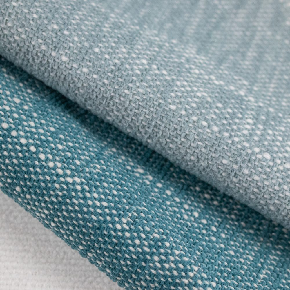Bahama Indoor Outdoor Performance Textile | Teal Texture Inside Out Performance Fabric Bleach Cleanable