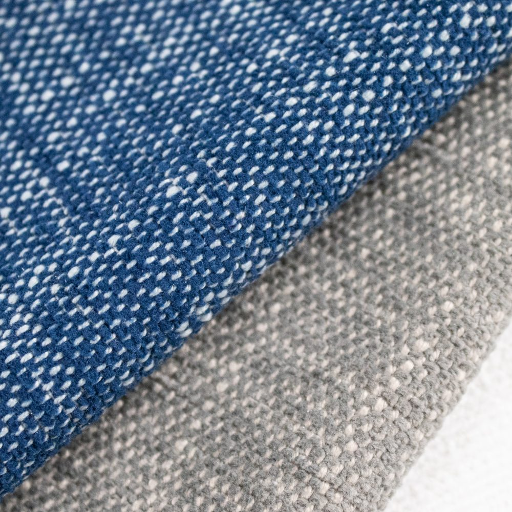 Bahama Indoor Outdoor Performance Textile | Blue Texture Inside Out Performance Fabric Bleach Cleanable