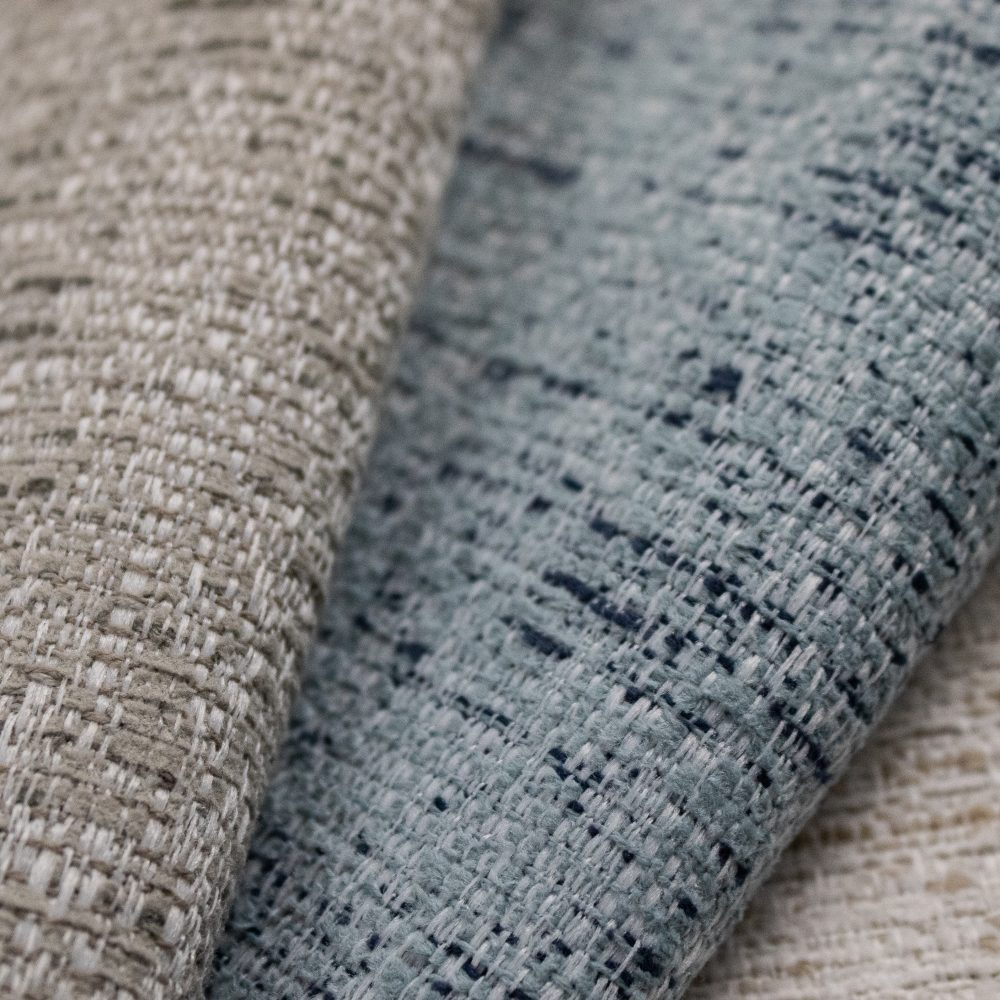 Bohemian Indoor Outdoor Performance Textile | Blue Texture Inside Out Performance Fabric Bleach Cleanable