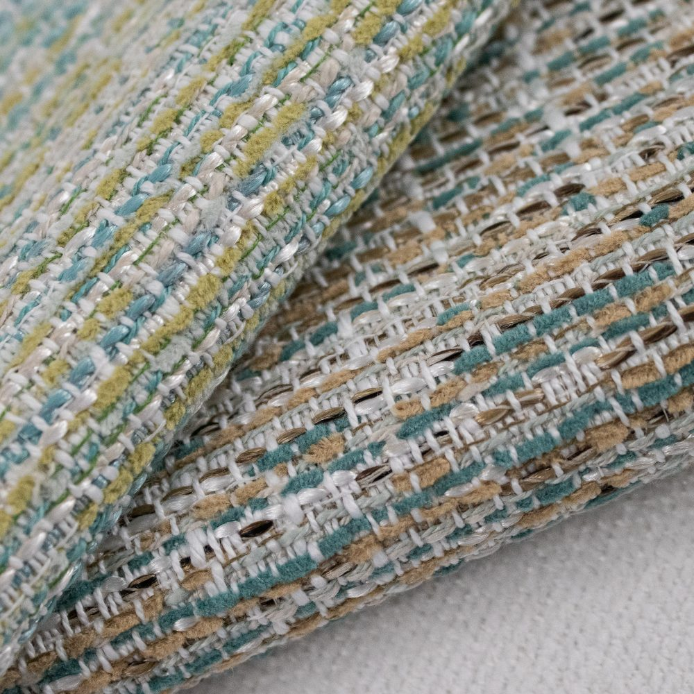 Rags Indoor Outdoor Performance Textile | Green Multi-colour Texture Inside Out Performance Fabric Bleach Cleanable