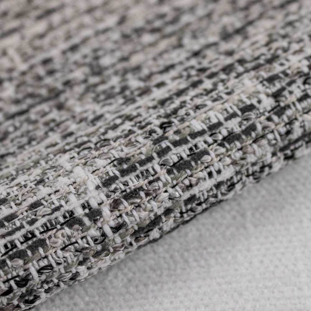 Rags Indoor Outdoor Performance Textile | Charcoal Multi-colour Texture Inside Out Performance Fabric Bleach Cleanable